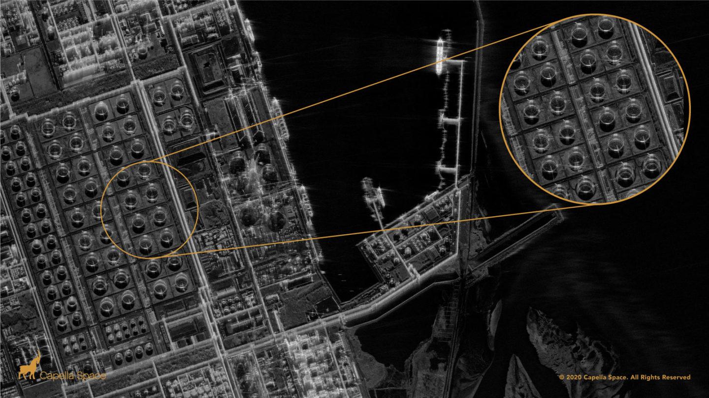 Capella Space Spot Image Mailiao Oil Refinery Taiwan